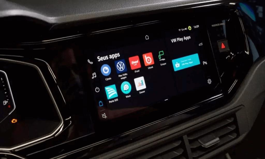 VW Nivus 2021 multimídia