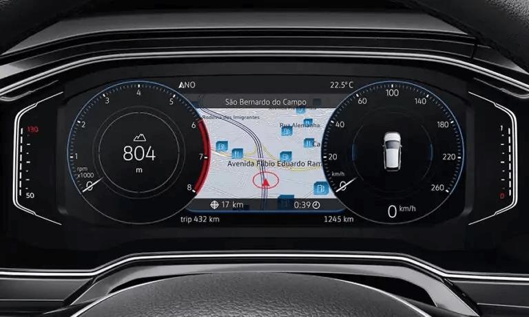 VW Polo 2021 painel instrumentos
